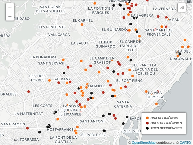 Mapa Barcelona Deficiencias Sanitarias E Plagas Com